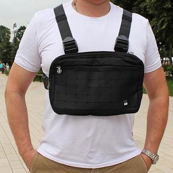 Мужская нагрудная сумка, сумка на грудь для мальчиков, тактическая через плечо, сумки мужские в стиле хип-хоп