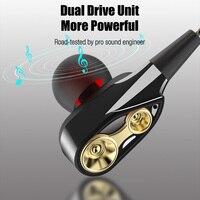 """ממ עבור Wired אוזניות סטריאו מסוג C כונן כפול הגבוהה בס בתוך אוזן אוזניות עם מיקרופון 3.5 מ""""מ אוזניות אוזניות עבור טלפון הדמויים IOS (2)"""