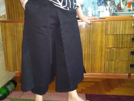 Spring High Elastic Waist Black Loose Vent Loose Long Wide Leg Pants Trousers Women Fashion Tide photo review
