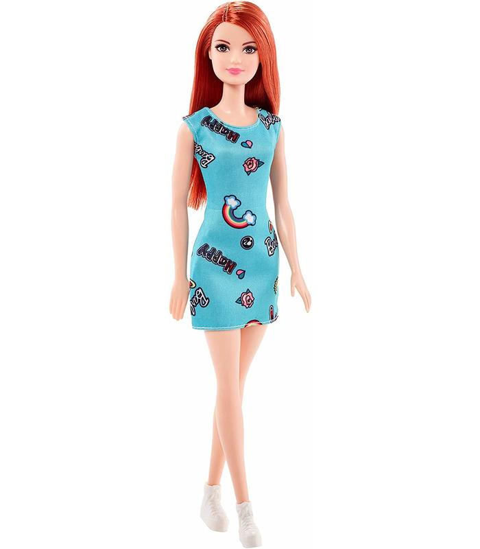 Barbie Doll Chic Redhead Blue Dress Toy Store Articles Created Handbook