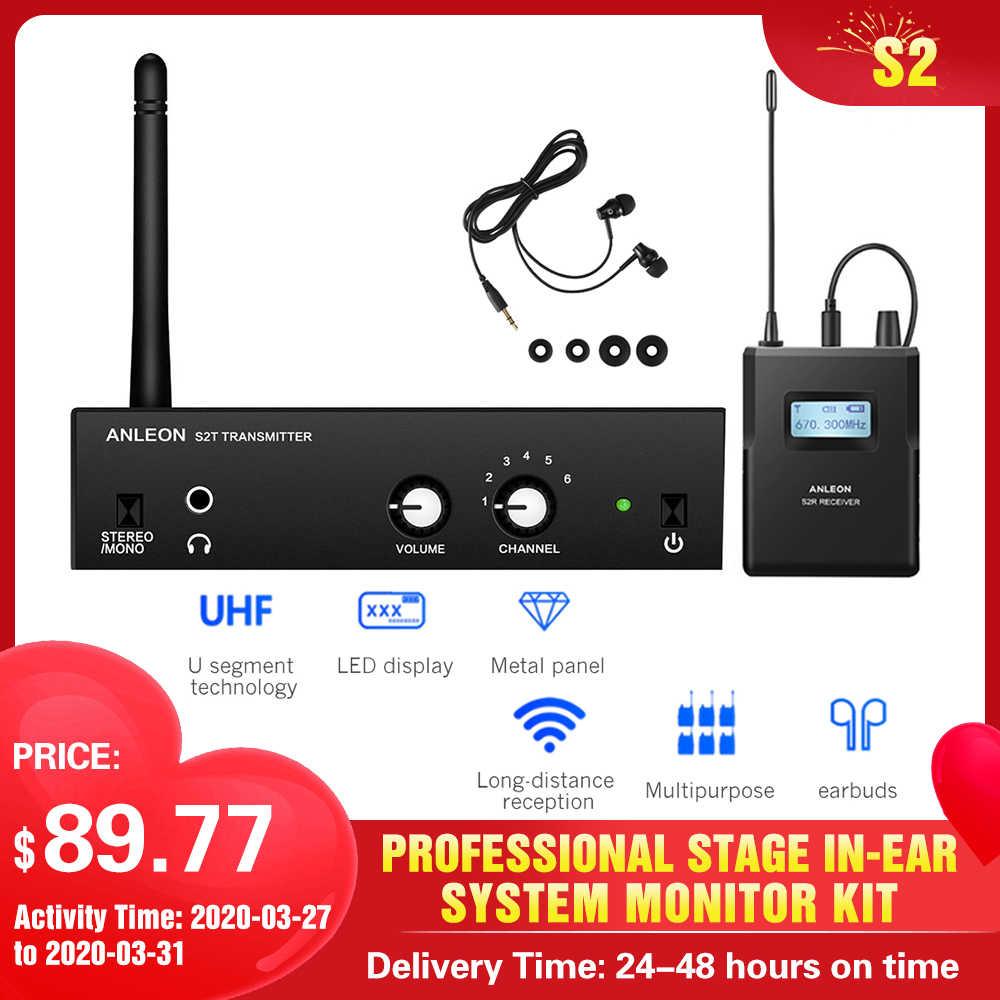 2020 untuk Anleon S2 UHF Stereo Nirkabel Sistem Monitor 863-865 MHz 670-680 MHz Digital Profesional Tahap in-Ear Monitor Sistem Kit