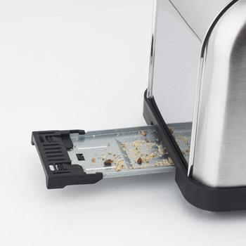 H. koenig Baguettes Toaster Pan 2 Slots Long and Wide, length 4 Slices, 1500 W, 3 Functions, 7 Levels roasting, Steel 3