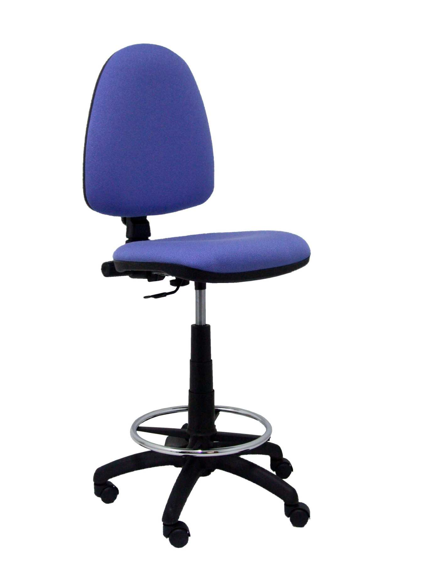 Ergonomic Stool With Mechanism Permanent Contact, Adjustable Height And Hoop Footrest Chrome-Seat And Res