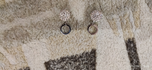 NEHZY 925 sterling silver New Jewelry Shambhala luxury zirconia female popular original brand of high-end vintage stud earrings photo review