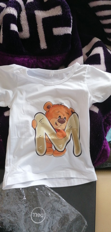 Summer 2021 Kids Boys Girls Birthday T-shirt Short Sleeved T Shirt Size 1 2 3 4 5 6 7 8 9 Year Children Party Clothing Tees Top photo review