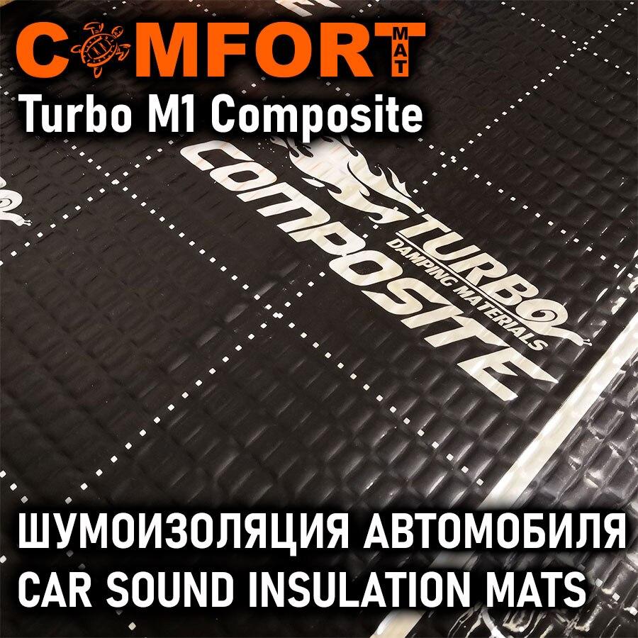 Шумоизоляция Turbo М1 Composite, комплект 3 листа 500х700, Comfortmat, виброматериал для авто