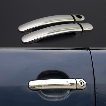 For Seat Leon Mk2 1P Accessories 2005-2012 Leon Mk2 1P Accessories Chrome Door Handle Chrome Stainless Steel 2 Door