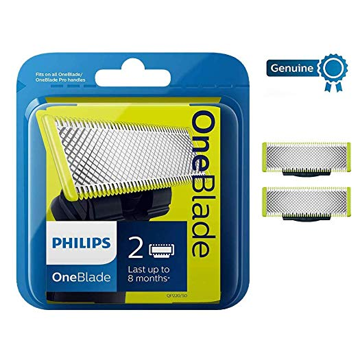 Philips OneBlade Replaceable Blade Head - 100% Orijinal  - 2 Blades MADE IN Netherlands