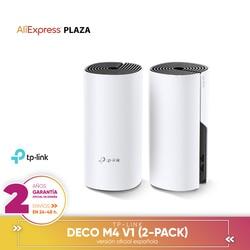 [الضمان الرسمي النسخة الإسبانية] TP-LINK تصميم ديكو M4 V1 (2-pack) واحدة شبكة واي فاي المنزل للنظام كله AC1200 الأمازون اليكسا