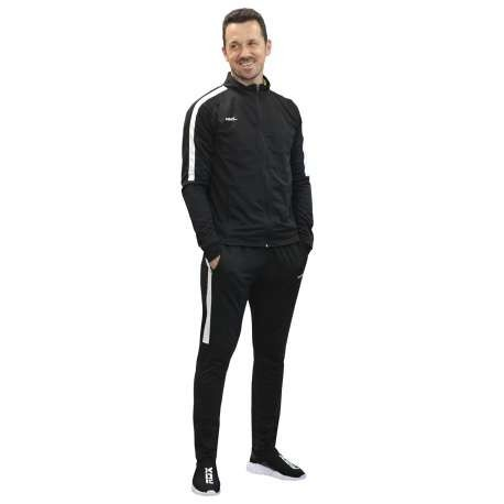 CHANDAL SOFTEE TEAM ADULTO - TALLA XXL - COLOR NEGRO Y BLANCO