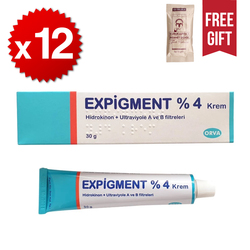 Crema de hidroquinona 4% para blanqueador de piel aclarar la piel tratamiento de Melasma 30g/1oz (paquete de 12) al mejor precio