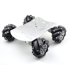 Moebius 4WD 96mm Mecanum Wheel Robot Car Chassis Kit with DC 12V Encoder Motor for Arduino Raspberry Pi DIY Project STEM Toy цена 2017