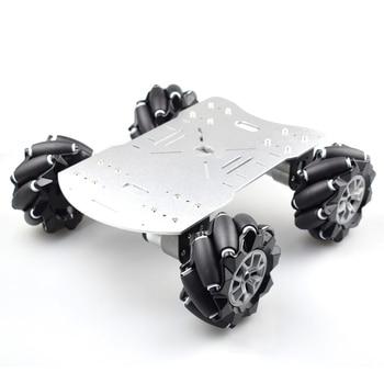 new avoidance tracking motor smart robot car chassis kit speed encoder battery box 2wd ultrasonic module Moebius 4WD 96mm Mecanum Wheel Robot Car Chassis Kit with DC 12V Encoder Motor for Arduino Raspberry Pi DIY Project STEM Toy