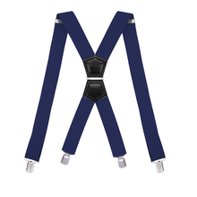 Men's Work Suspenders Heavy Duty with 4 Strong Clips X Back Adjustable Elastic Jeans Trouser Belts Black Gray for Wedding Events