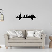 Creative City Skateboard Silhouette Design Wall Sticker Decal Bedroom Wall Decor A0070 creative branding design for padang city