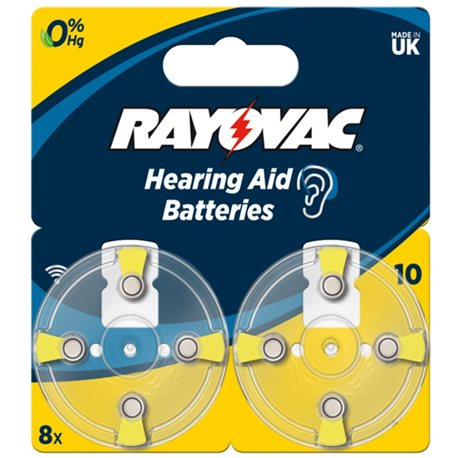 BATTERY HEARING AID 10AU RAYOVAC 8 PC