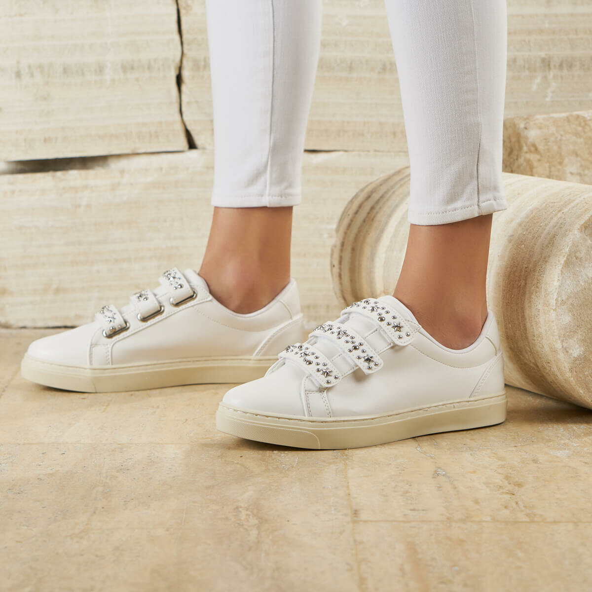 FLO BEATLE01Z SKIN White Women 'S Sneaker Shoes BUTIGO