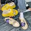 New Unisex Bread Cotton Slippers Fashion Graffiti Indoor Outdoor Anti Slip Cartoon Shoes Sports Warm Men Slides Women Sandals