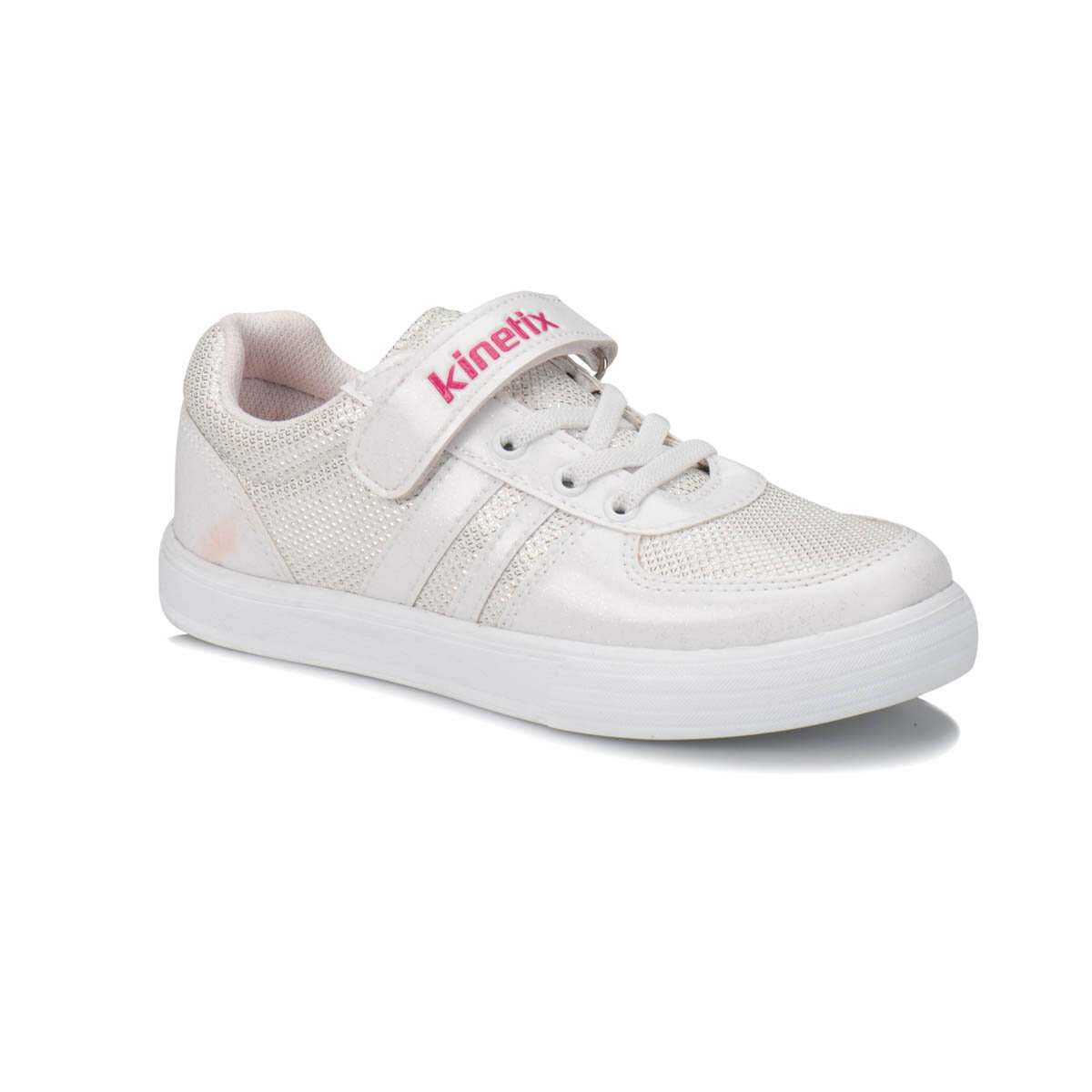 FLO MASSIN White Female Child Sneaker Shoes KINETIX