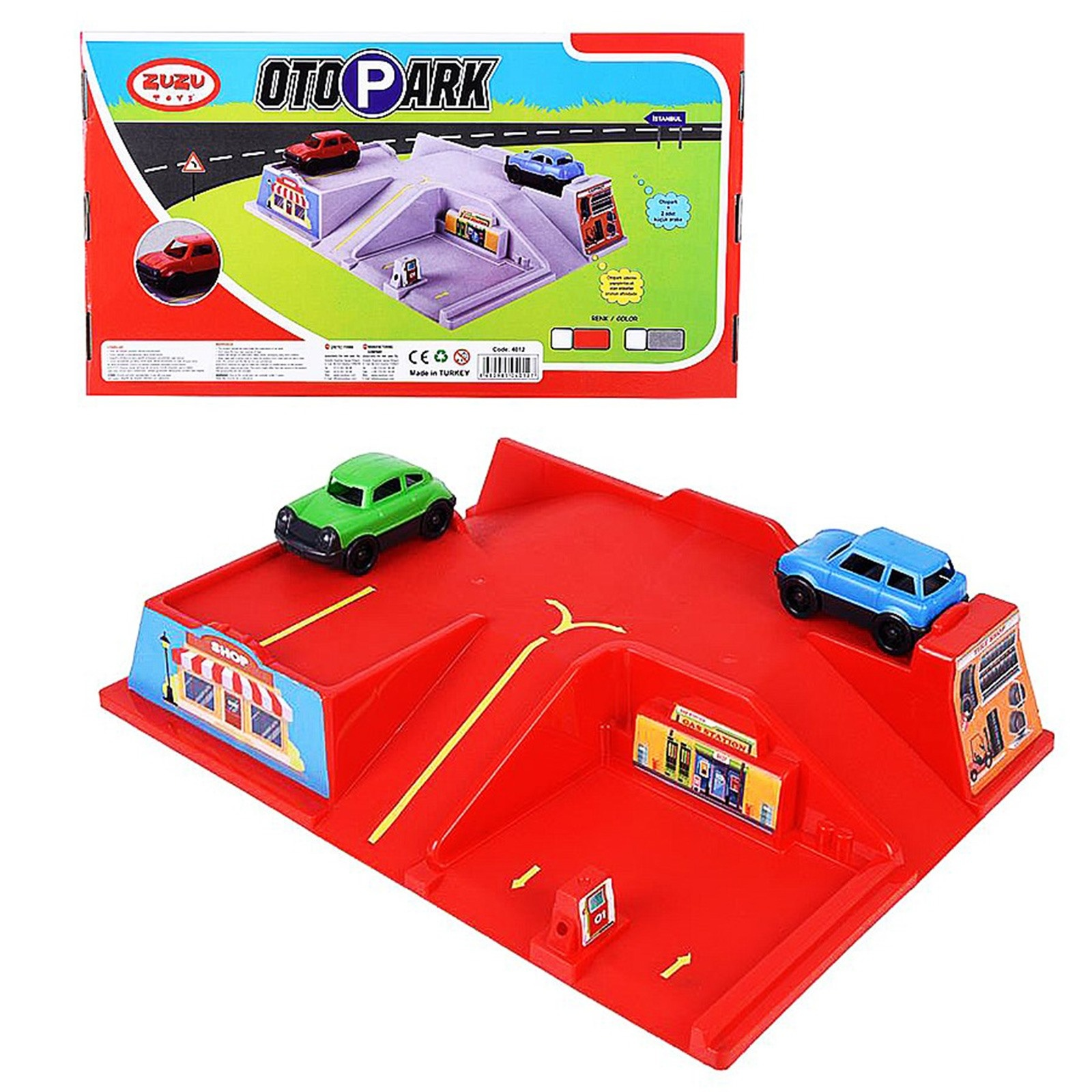 Ebebek Zuzu Oto Parking Set With Car