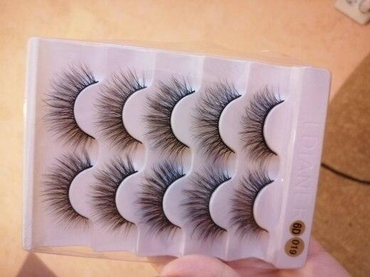 5pairs Natural False Eyelashes Mink Eye Lash Thick Long Lashes Makeup Beauty Extension Silk Eyelashes Tools reviews №1 274849