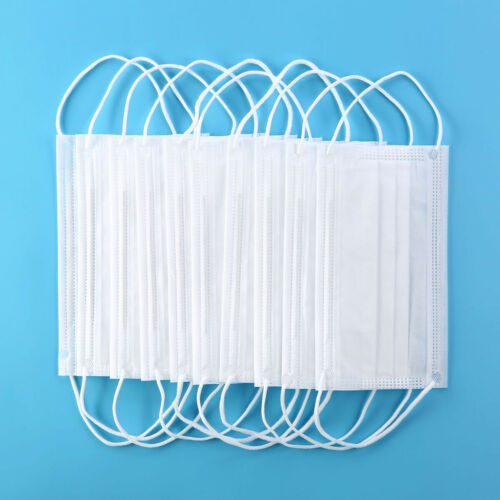 100Pcs Wholesale 3-Layers Masks Disposable Ear-loop Face Mouth Masks Dust-Proof Personal Protective Face Mask White