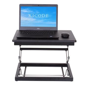 Ergonomic Height Adjustable Laptop Desk Stand Laptop Table Stand up Table Standing Desk Healthy Working Table Stable Structure giantex height adjustable standing desk converter sit stand computer laptop workstation modern wood furniture hw57064