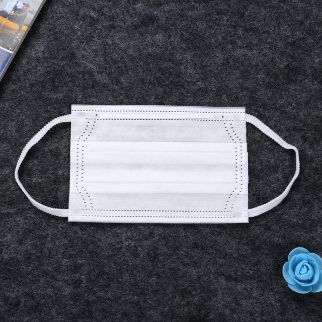 10pcs Children 3-Ply Disposable White Face Masks  Anti Dust Mouth Masks 3 Layers Anti-Flu Kids Boys Girls Ear Loop 5