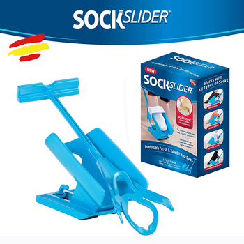 Slipper socks shoe for reduced mobility climb and down stockings without bending easy comfort seen TV