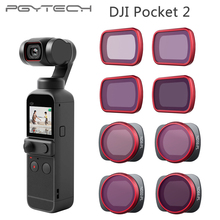 In Stock PGYTECH For DJI Pocket 2 Filters set Professional Filter UV CPL ND8 ND16 ND32 ND64 ND 64 PL NDPL VND Osmo