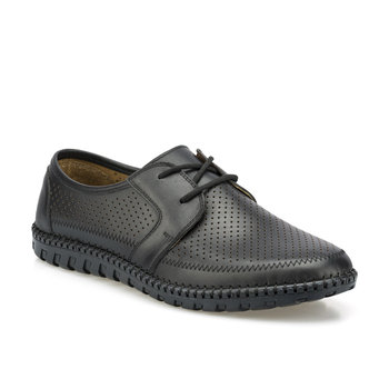 FLO 102095 M czarne męskie klasyczne buty Polaris 5 Point tanie i dobre opinie Polaris 5 Nokta Na płótnie
