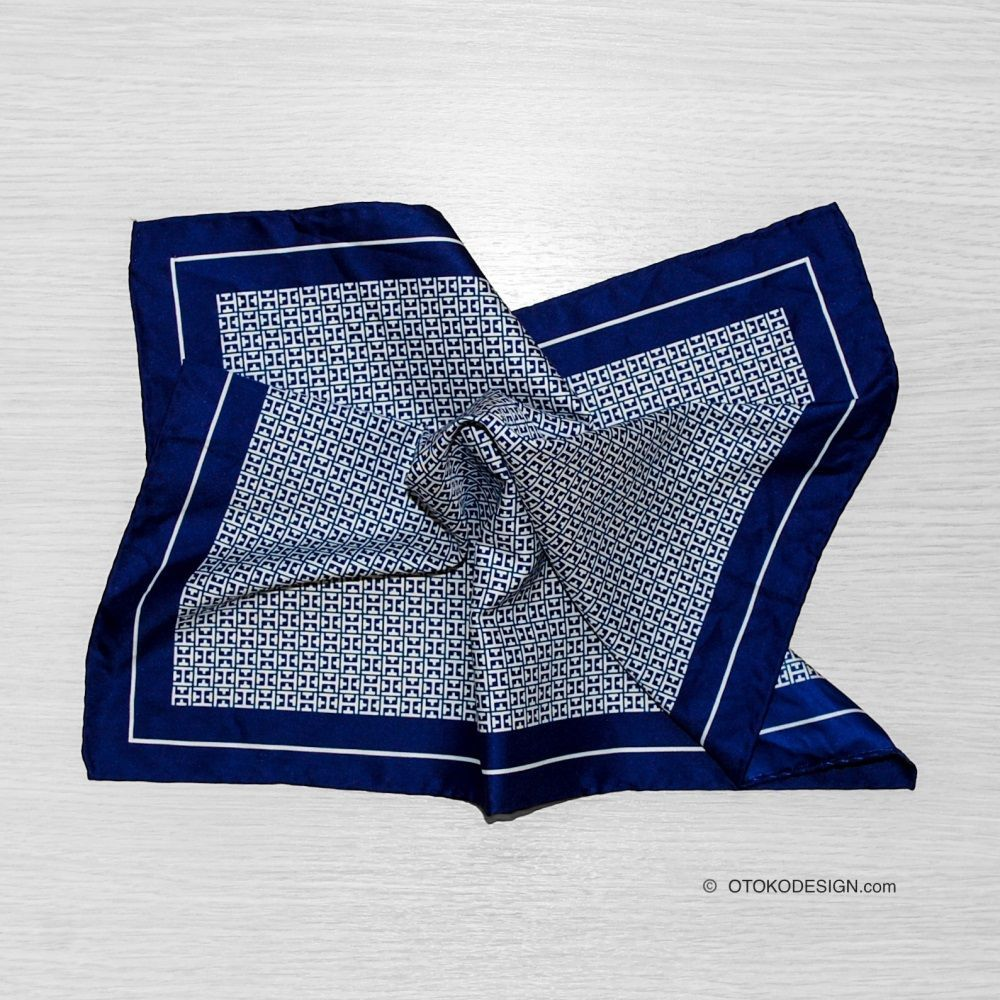 Pocket Square Blue With Texture (50028)
