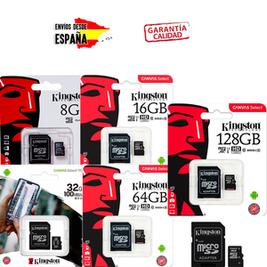 MICRO SD C4 KINGSTON MEMORY (WITH SD ADAPTER) (SDC 8/16/32/64 / 128GB) MEMORY CARD FOR STORAGE