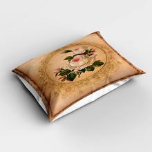 Fundas de almohada modernas rectangulares de flores rosas blancas Vintage marrones más fundas de almohada de estampado digital 3d fundas para sofá cama