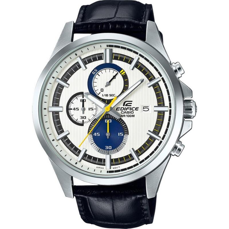 Casio Original Men Watches Fashion Top Brand Luxury 100m Waterproof Quartz Technology Men Edifice Casual Leather Watch EFV-520L