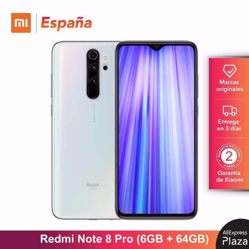 Xiaomi Redmi Note 8 Pro (64GB ROM, 6GB RAM, Cámara De 64 MP , Android, Nuevo, Libre) [Teléfono Movil Versión Global Para España