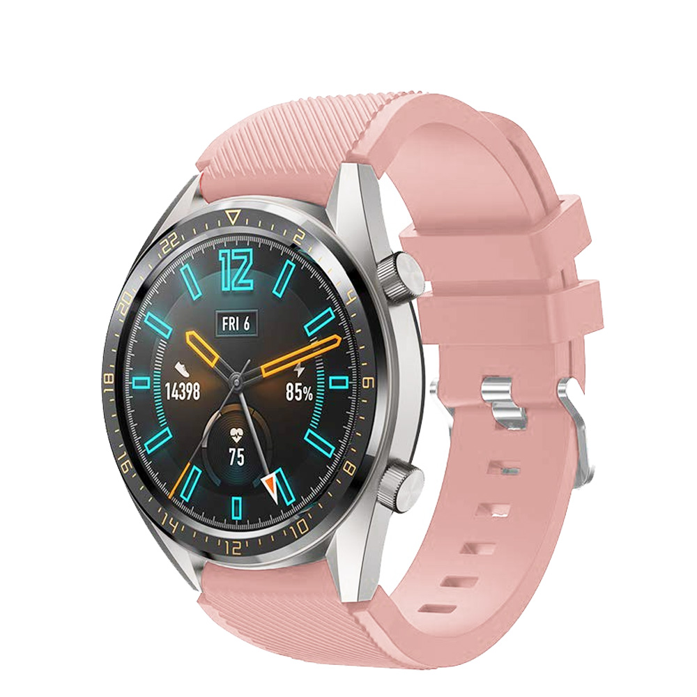 Correas pulsera de recambio para Huawei Watch GT 2 / Honor Magic Watch 2, 42 y 46mm silicona flexible de colores cierre de metal-1