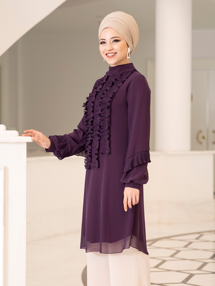 Hijab Muslim Women's Tunic New Season High Quality Large Size Islamic Clothing Turkey to Dubai