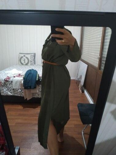 Fashion Button Long Dress Elegant Women Dresses Casual Work Dress Plus Size Pocket Slim Black Dresses Women Long Sleeves photo review