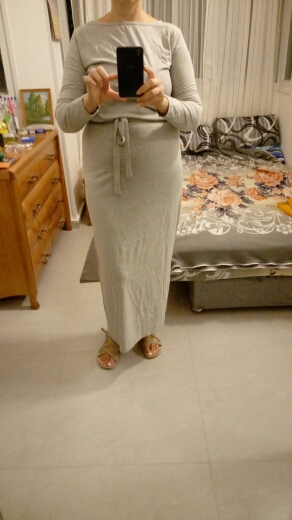 Autumn Women Long Maxi Dress Slash Neck Sashes Winter Dresses Casual Long Sleeve Solid Dress Casual Plus Size photo review