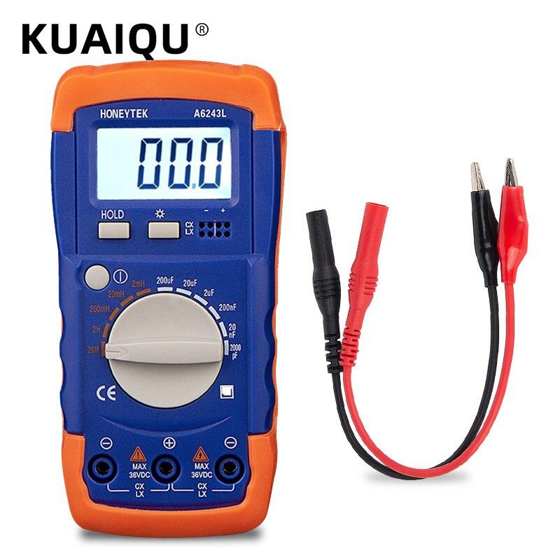 Цифровой профессиональный тестер на конденсатор, измерительные конденсаторы, Автомобильный Мультиметр, измеритель индуктивности, Аналого...