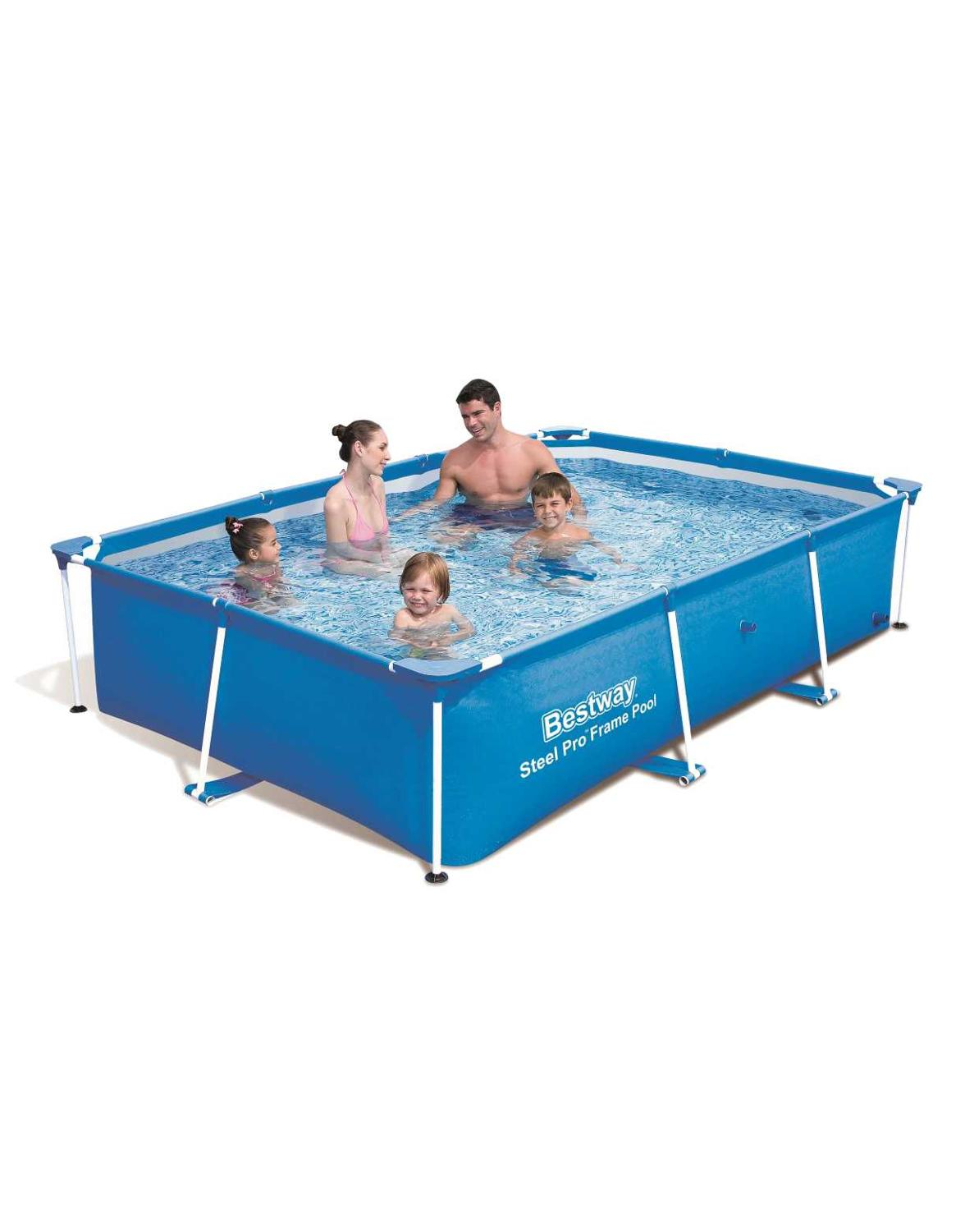 Scaffold Rectangular Pool 259 х170х61 Cm, 2300 L, Blue, Steel Pro Bestway, Item No. 56403