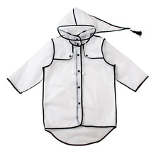 Kids Girls Raincoat Rain Jacket Children Waterproof Clear Student Poncho Outdoor Trave