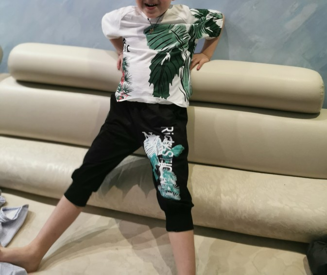2 Pcs Children Summer Clothes Set Boys T shirt Pants Casual Sports Suits 6 8 10 12 13 14 Years Kids Clothing Casual Tracksuit photo review