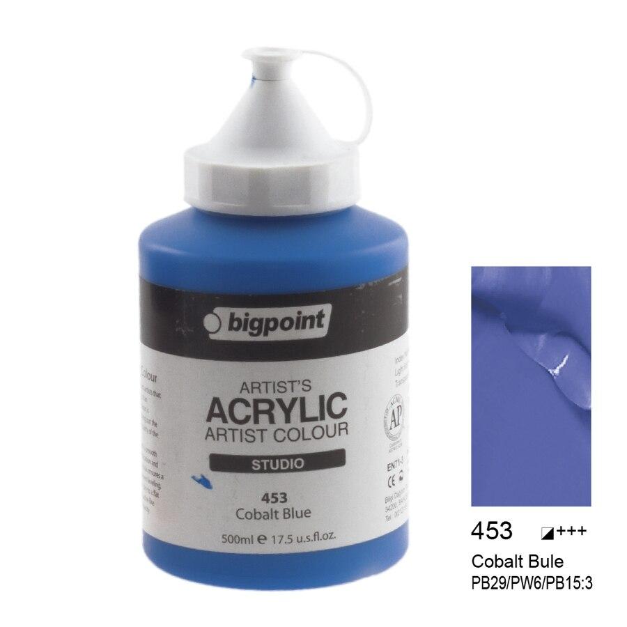 500ml Colors Acrylic Paint Set Professional Amateur Fabric Canvas Stone Wood Water Resistant Art Supplies DIY Peinture Acrylique