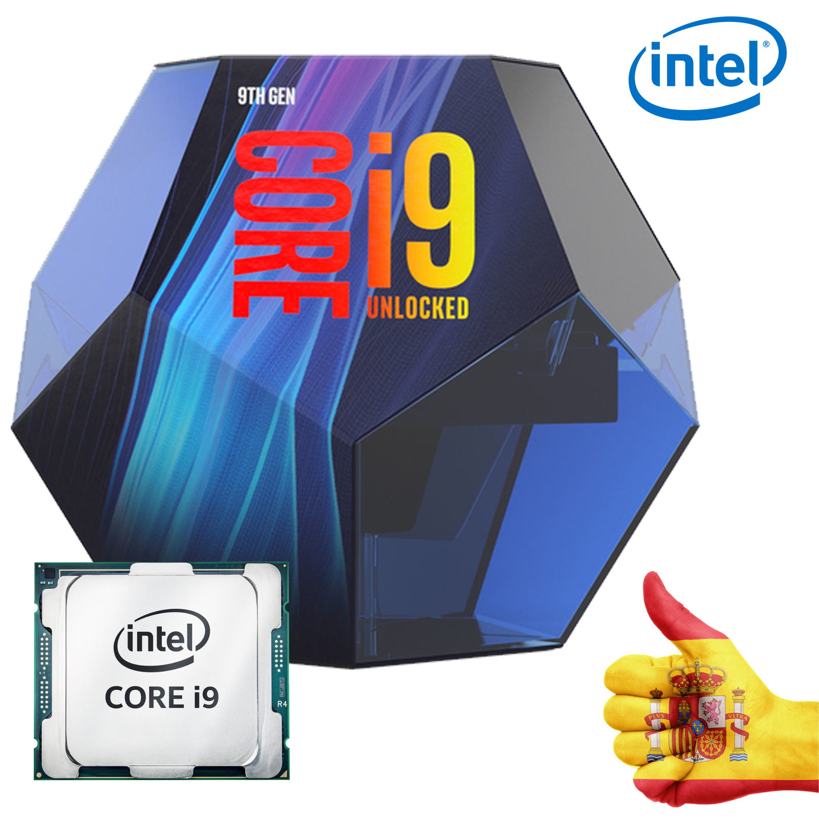 Intel CPU CORE I9-9900K 3.60GHZ 16M LGA1151 BX80684I99900K 999J2X 984503