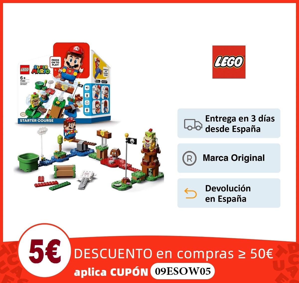 LEGO Super Mario Pack Inicial: Aventuras con Mario, juguete y regalo creativo para niños|Bloques| - AliExpress