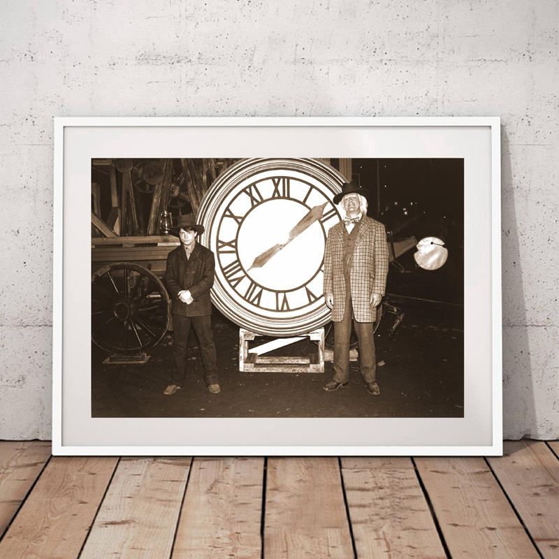 Back to the Future Prop 1885 Clock Photo Canvas Painting Wall Art Decor