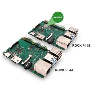 Image 5 - Rockpi 4A V1.4 Rockchip RK3399 ARM Cortex шестиядерный SBC/одноплатный компьютер, совместимый с официальным дисплеем Raspberry PI