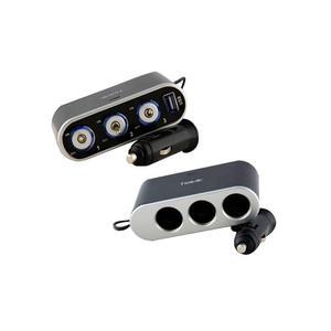HAVIT voiture briquet voleur avec 3 briquets, interrupteurs et un port USB avec sortie 500 MA HV-UC2035 noir